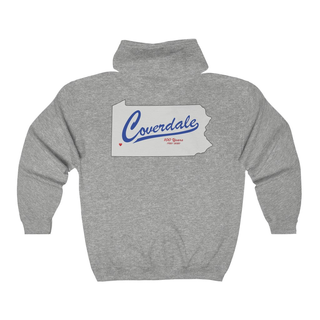 Coverdale front & back print Full Zip Hooded Sweatshirt