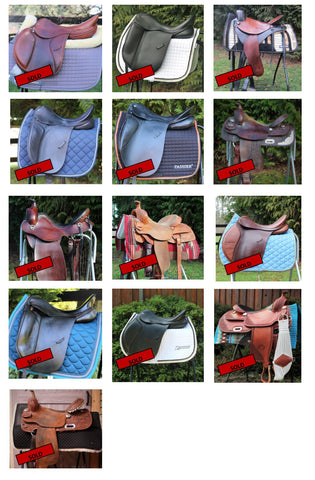 Summerside Tack Sold Consignment Saddles