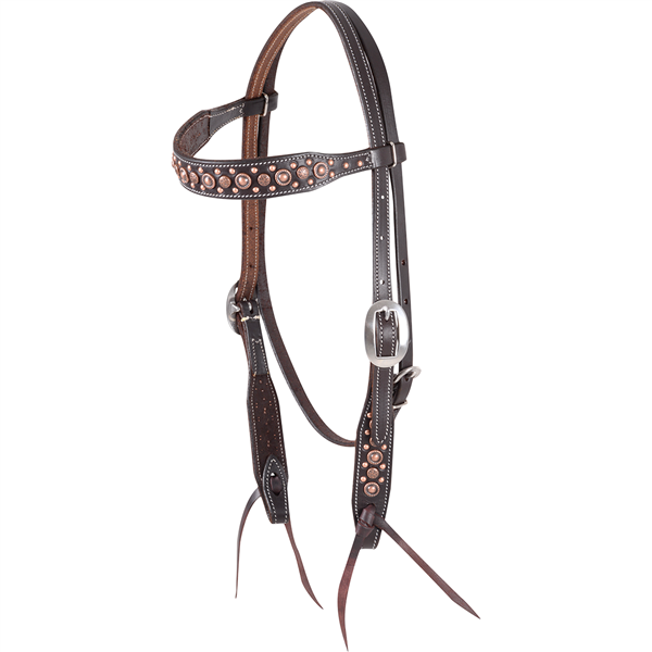 Martin Saddlery Antique Copper Dots Headstall