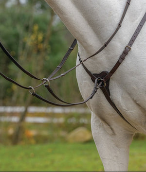 Shires Three Point Breastplate with Running Martingale