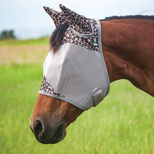 Cashel Standard Fly Mask with Ears Leopard