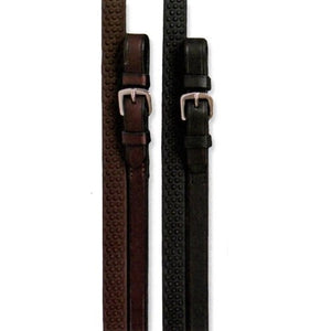 Shires Soft Rubber Grip Reins with Buckle Fitting