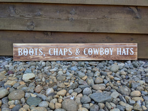 Equine Sign and Design Boots, Chaps and Cowboy Hats