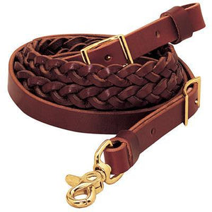 Weaver Latigo Leather 3-Plait Roper Rein