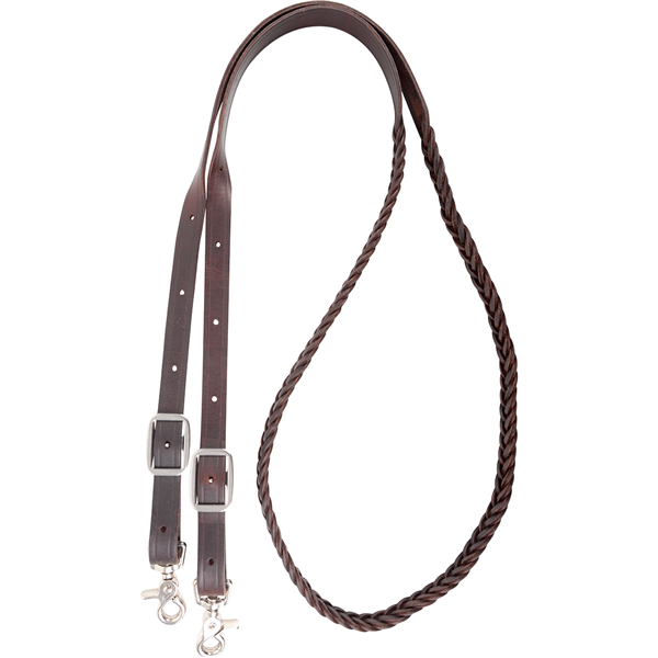 Martin Saddlery 5 Plait Braided Latigo Roping Reins