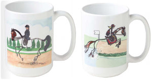 Kelly and Co Whimscical Stick Horse Mugs