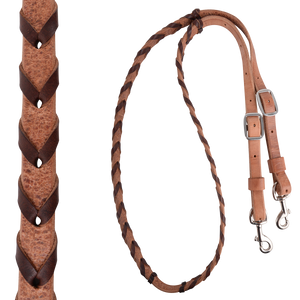 Martin Saddlery Latigo Laced Barrel Reins