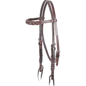 Martin Saddlery Latigo Blood Knots Headstall