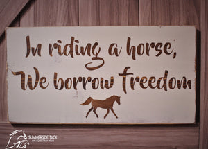 Equine Sign and Design Borrow Freedom