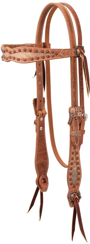 Weaver Leather Copper Blossom Headstall