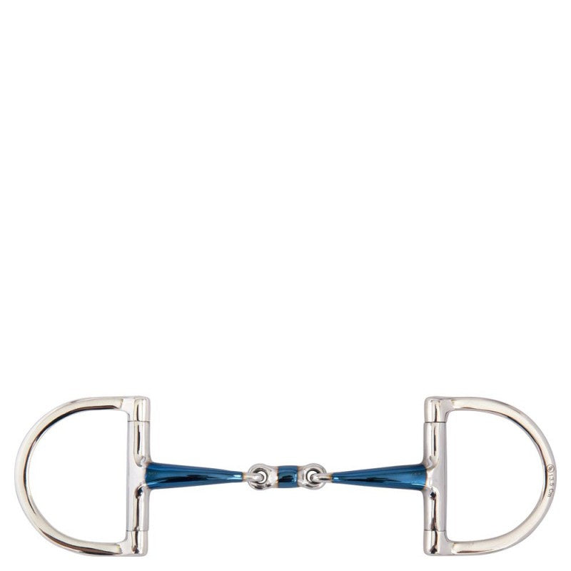 BR Sweet Iron Double Jointed Dee Ring Snaffle