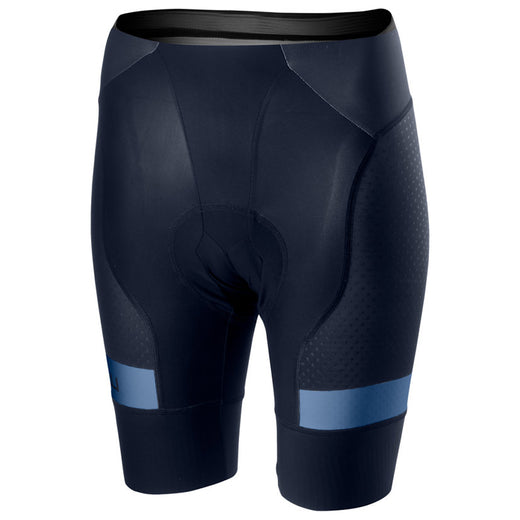"Every detail of the these shorts are made to support your riding despite their minimalist construction. Muscle support, aerodynamic fit, comfort to let you concentrate on wringing every last bit of energy from your legs, minimised weight and leg grippers that wont cut off the blood flow to your muscles or give you the dreaded ""sausage"" leg. The new leg gripper features a lie-flat raw-cut edge but has silicone strips to keep it in place without restricting your movement."