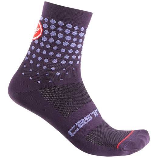 Castelli Puntini Sock - Deep Purple