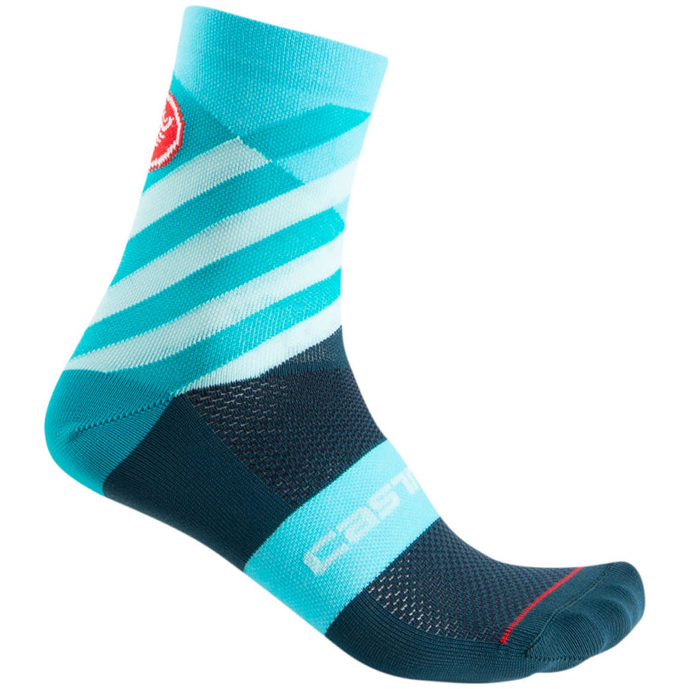 Castelli Talento Sock - Multicolor Light Turquoise