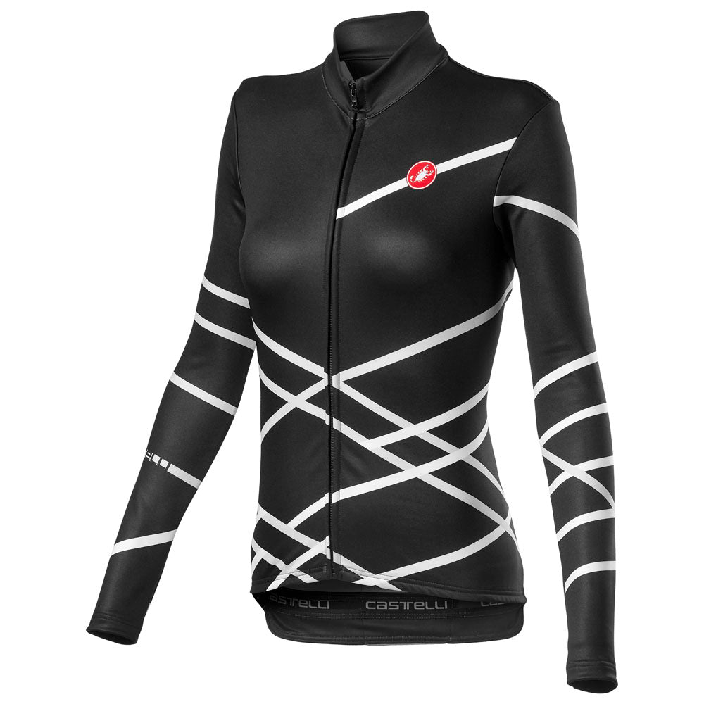 Castelli Diagonal W Jersey Fz - Light Black | VeloVixen