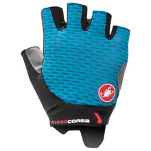 Load image into Gallery viewer, Castelli Rossa Corsa 2 Women's Gloves are sure to keep you cool and comfortable throughout your ride.   With Castelli Dampening System, the gloves are designed to distribute pressure more evenly to avoid that dreaded numb-hand-feeling. With gel padding and silicone grip, these gloves will keep you in control while ensuring you stay comfortable even on your longer rides.