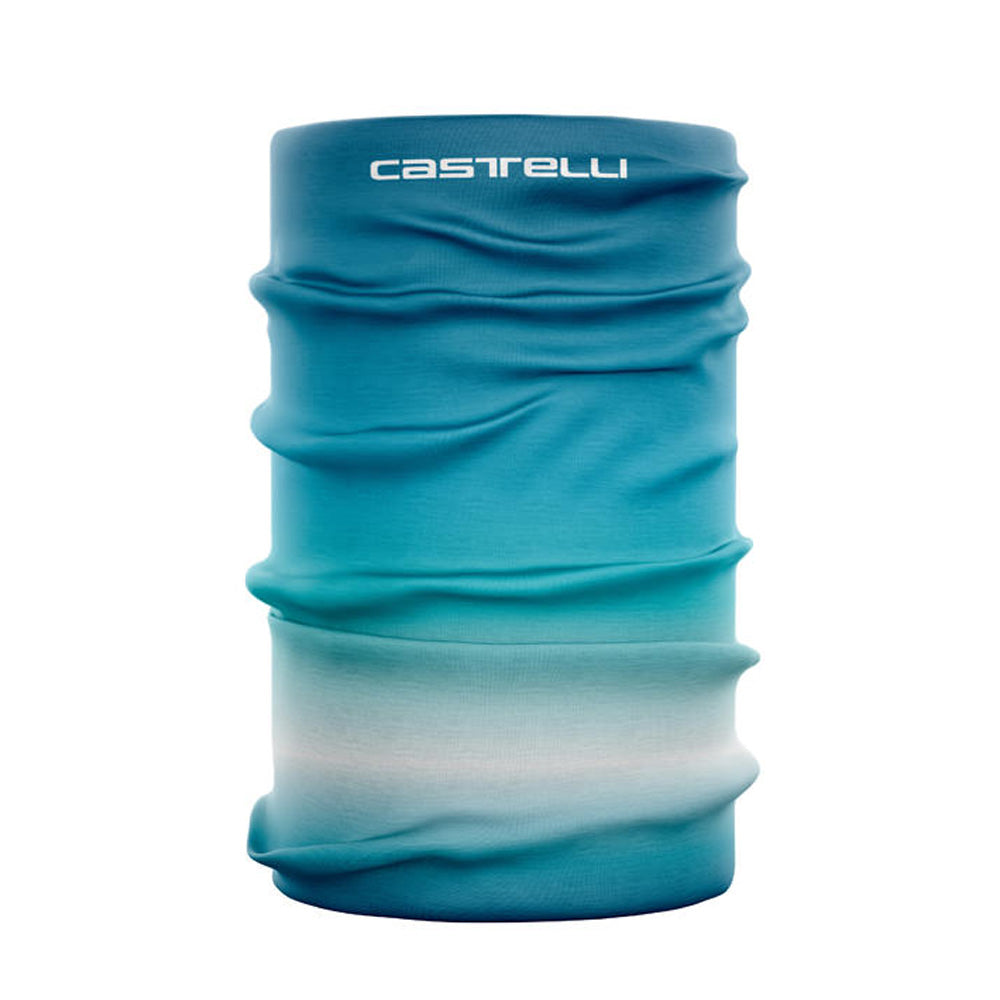 The classic Castelli Head Thingy in a lightweight summer fabric with funky gradient design. Really, its just a simple tube of Thermoflex fabric with laser cut ends and featuring sublimation printing. But sometimes the simplest things are the best.