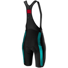 Load image into Gallery viewer, Castelli Velocissima 2 Bibshort - Black/Light Turquoise/Marine Blue