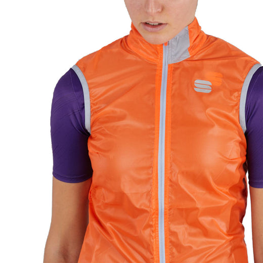 Sportful Hot Pack Easylight Women's Vest - Orange SDR | VeloVixen