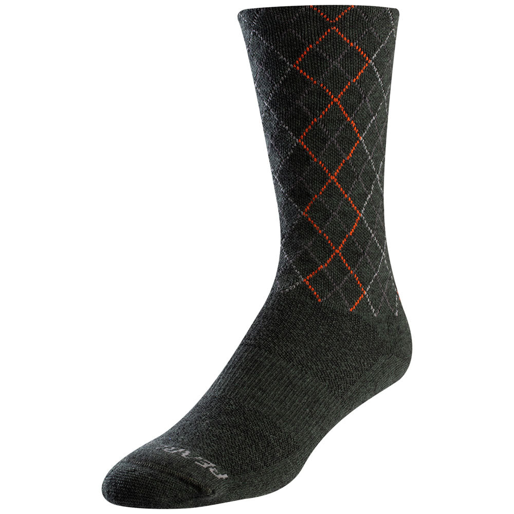 Pearl Izumi Socks Merino Wool Thermal - Forest/Flame Crossing