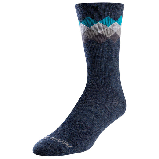 Pearl Izumi Socks Merino Wool Tall - Navy/Teal Solitaire