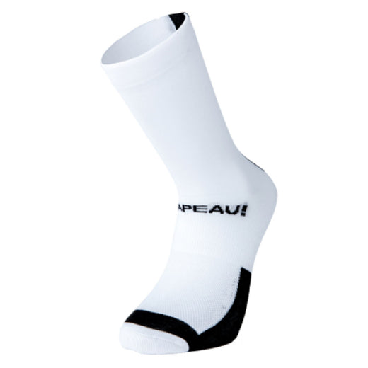 Chapeau! Lightweight Tall Performance Socks - White/Black | VeloVixen