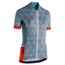 Load image into Gallery viewer, Rivelo Womens Hatchford Jersey - Blue/Orange | VeloVixen