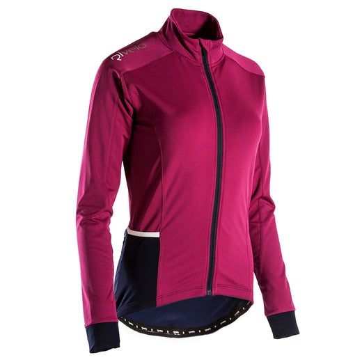 Rivelo Frensham Thermal Long Sleeve Jersey - Magenta/Navy | Velo Vixen