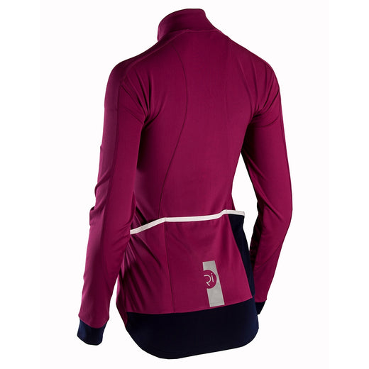 Rivelo Frensham Thermal Long Sleeve Jersey - Magenta/Navy