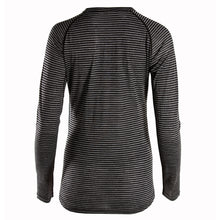 Load image into Gallery viewer, Rivelo Ashdown Merino Long Sleeve Base Layer - Black/Charcoal