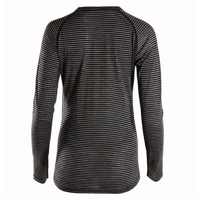 Rivelo Ashdown Merino Long Sleeve Base Layer - Black/Charcoal