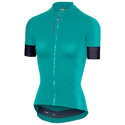 Castelli Anima 2 Jersey Fz - Turquoise Green-Dark Steel Blue