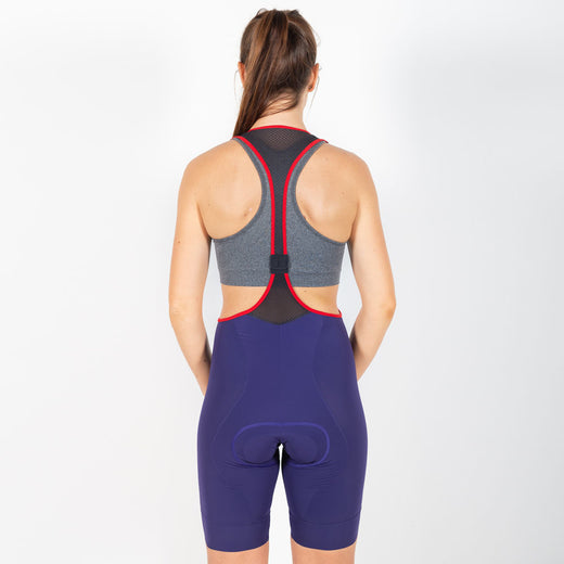 Iris Signature Bib Short II - Blueberry