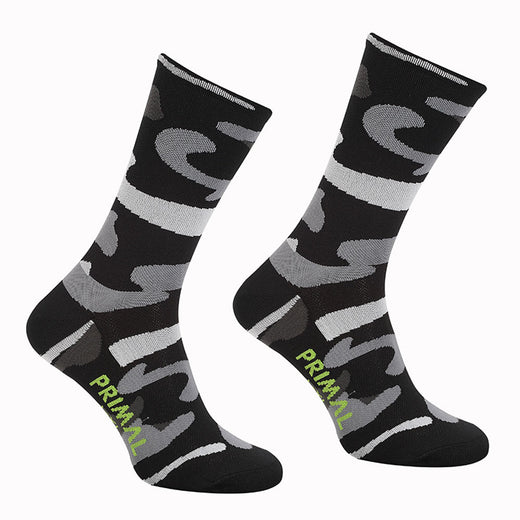 Primal Camo Cycling Socks - Black | VeloVixen