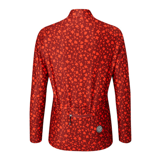 Chapeau! Rosa Long Sleeve Thermal Jersey Pattern - Warm Red
