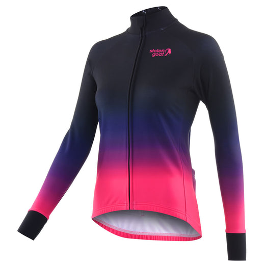 Stolen Goat Orkaan Everyday Long Sleeve Jersey - Ayoki Pink | VeloVixen