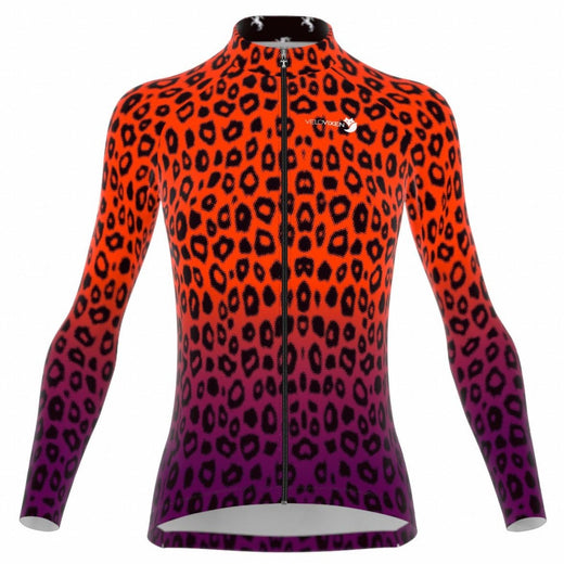 VeloVixen Cheetah Long Sleeve Cycling Jersey