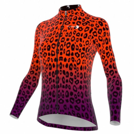 VeloVixen Long Sleeve Jersey - Cheetah