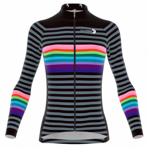 VeloVixen Bodyline Long Sleeve women's cycling Jersey - Jailbreak
