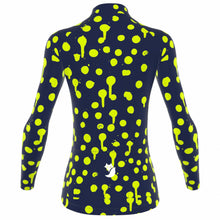 Load image into Gallery viewer, VeloVixen Bodyline Long Sleeve Jersey - Splat Zest