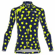 Load image into Gallery viewer, VeloVixen Bodyline Long Sleeve women's cycling Jersey - Splat Zest