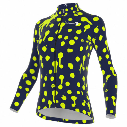 VeloVixen Bodyline Long Sleeve Jersey - Splat Zest
