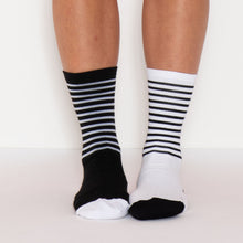 Load image into Gallery viewer, Stolen Goat Thermolite Crew Cut Socks - Black x White