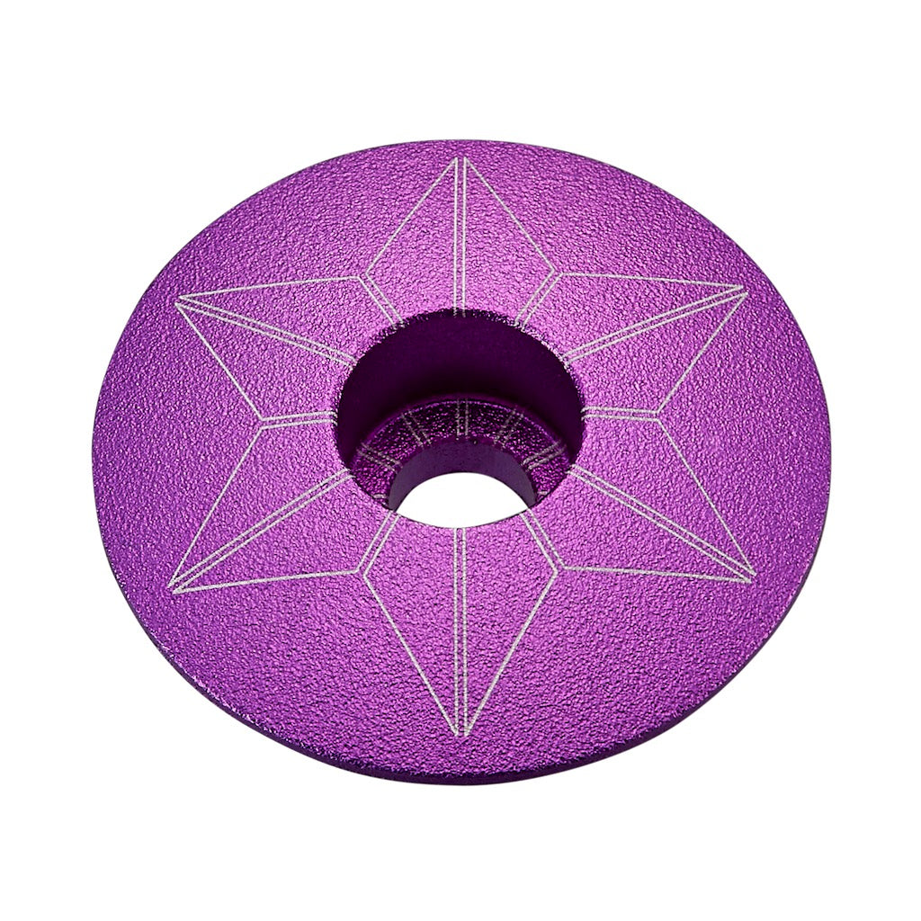 Supacaz Star Capz Stem Caps - Anodized Neon Purple  | VeloVixen
