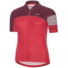 Load image into Gallery viewer, Gore C5 Women's Cycling Jersey - Hibiscus Pink/Chestnut Red | VeloVixen