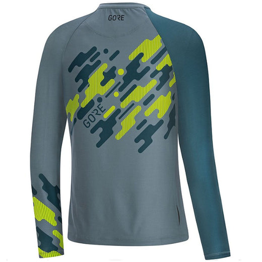 Gore® C5 Trail Long Sleeve Jersey - Nordic/Citrus Green