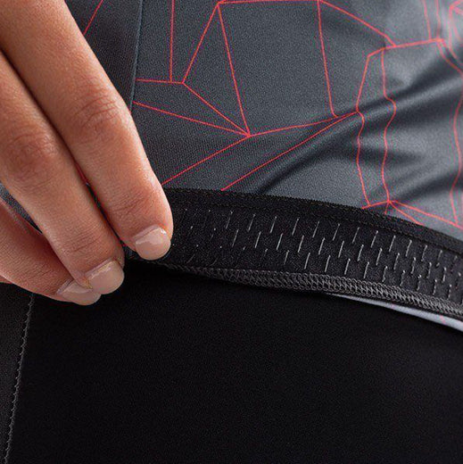 Pearl Izumi Attack Long Sleeve Jersey - Turbulence/Atomic Red Origami
