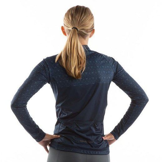 Pearl Izumi Attack Long Sleeve Jersey - Navy Deco Wrap