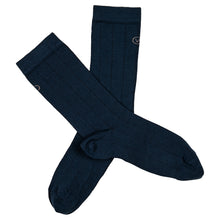Load image into Gallery viewer, Vulpine Mid Cotton-Cashmere Socks - Petrol