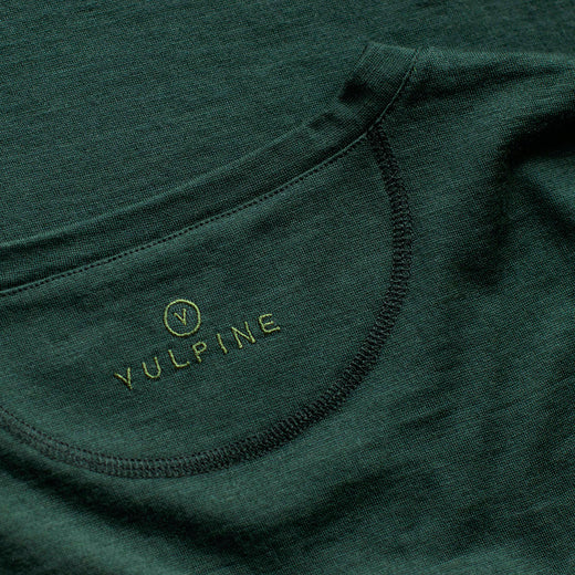Vulpine Merino V Neck Tee - Forest Green